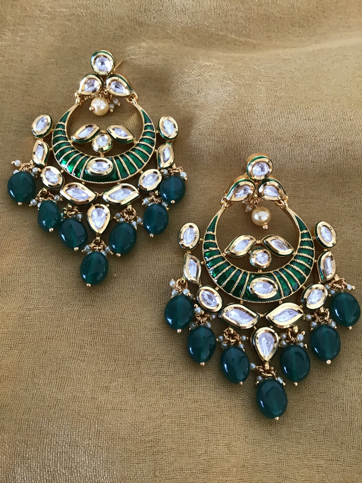 WHITE Designer Boutique Earrings