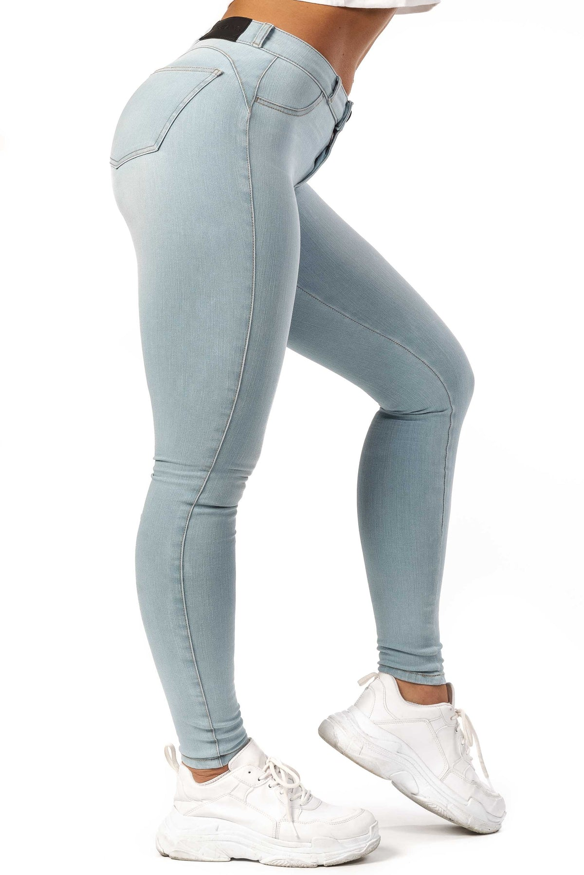 Womens 360 Mid Waisted Fitjeans - Vintage Blue
