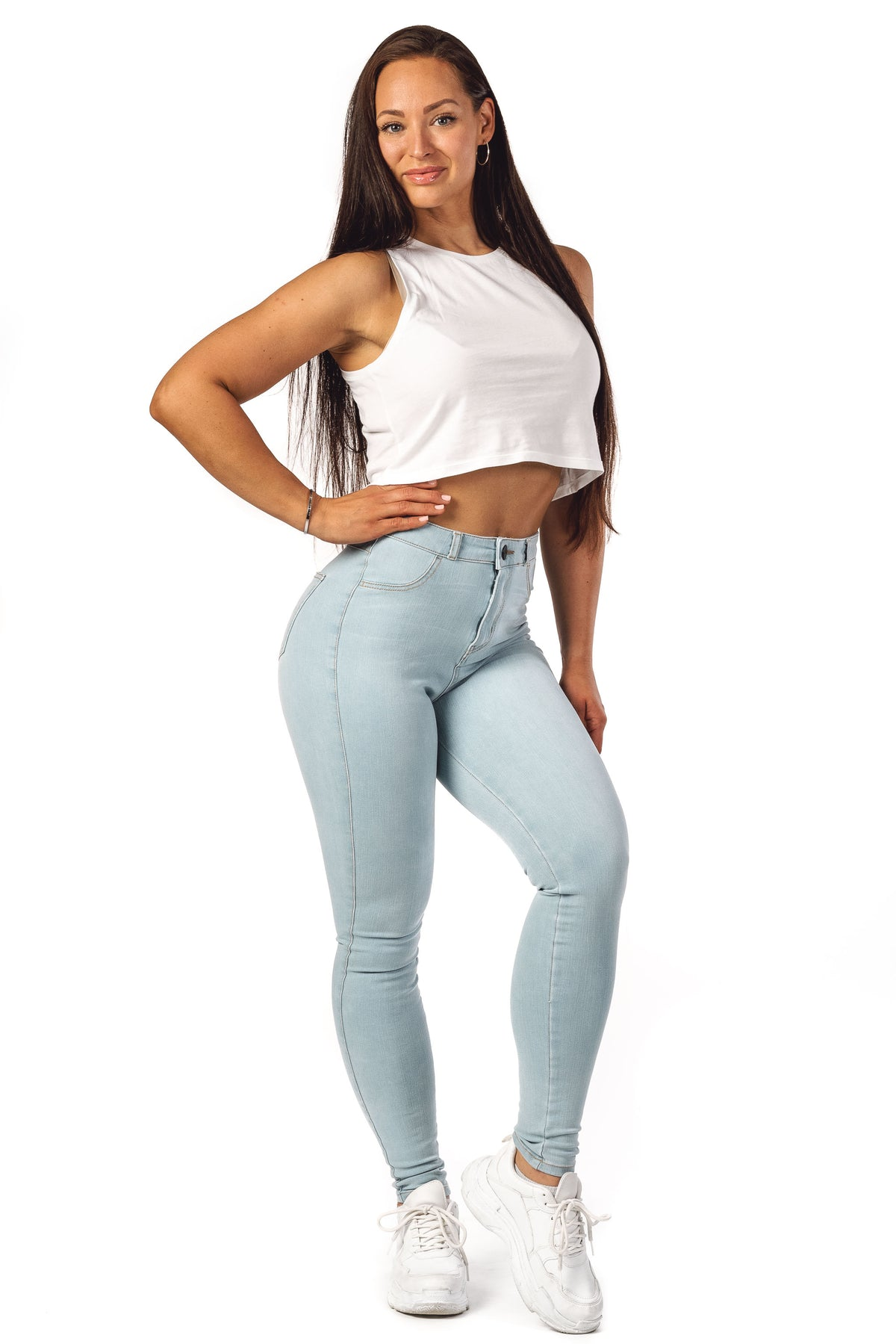 Womens 360 High Waisted Fitjeans - Vintage Blue