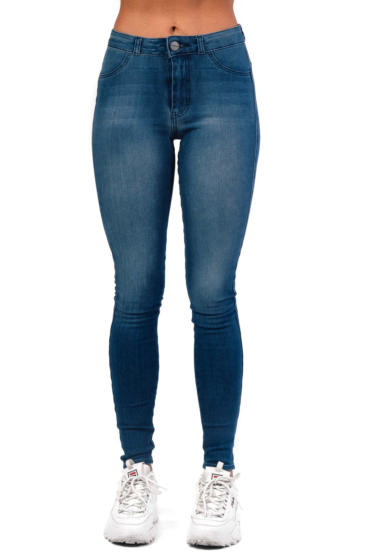 Womens 360 Mid Waisted Fitjeans - Azure Blue
