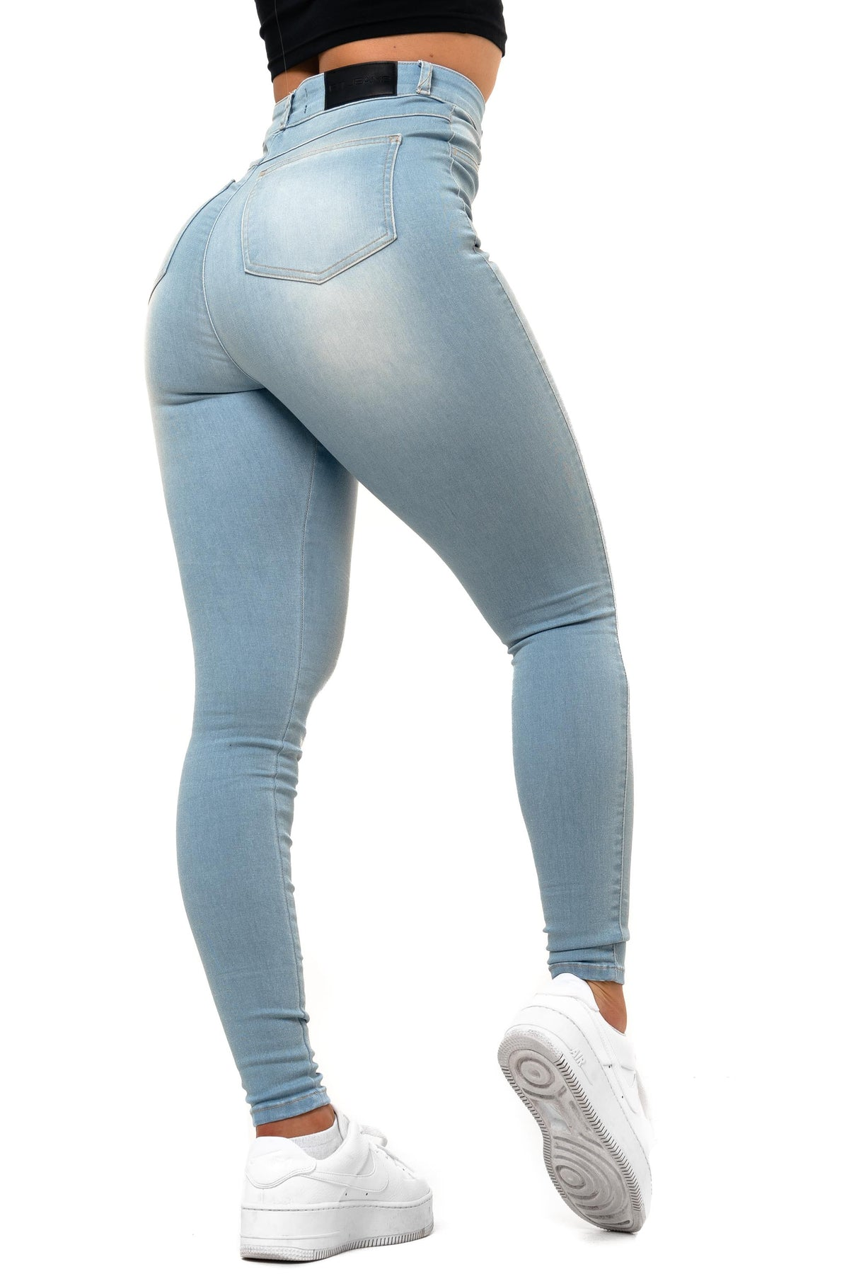 Womens Contour High Waisted Fitjeans - Vintage Blue
