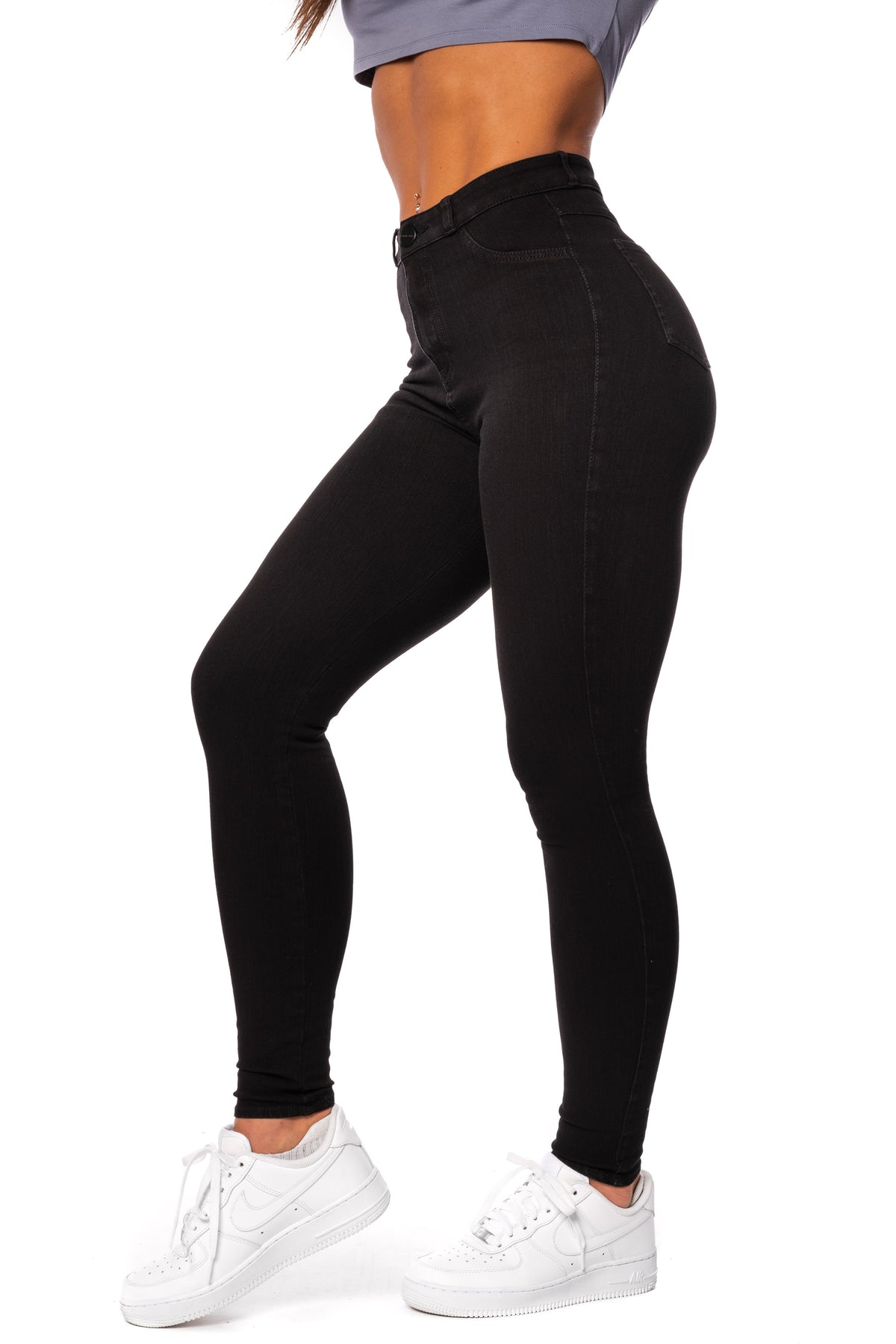 Womens 360 High Waisted Fitjeans - Black