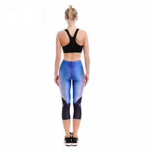 Women's Breathable Quick Dry Leggings with Rearing Horse & Lighting Print