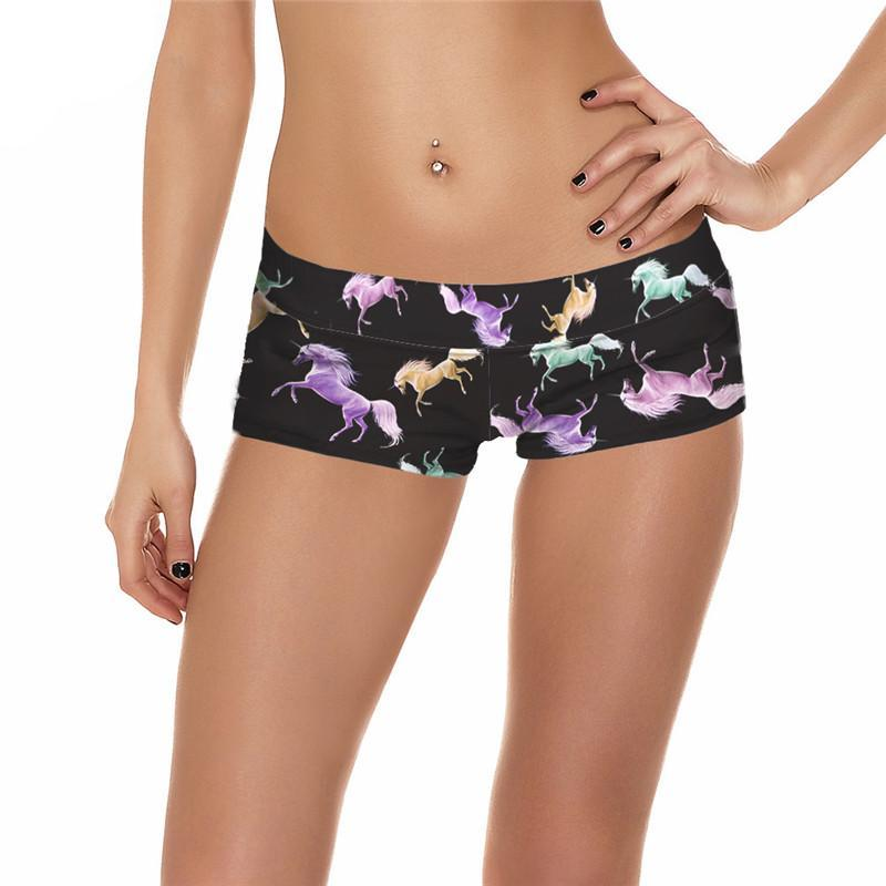 Cute & Colorful Women's Spandex Unicorn Shorts