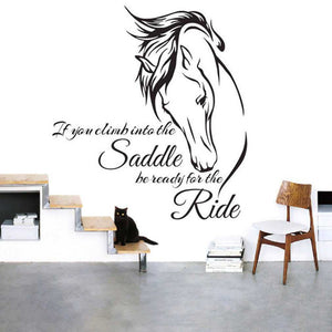 Horse with Quote Waterproof PVC Wall Sticker Decal