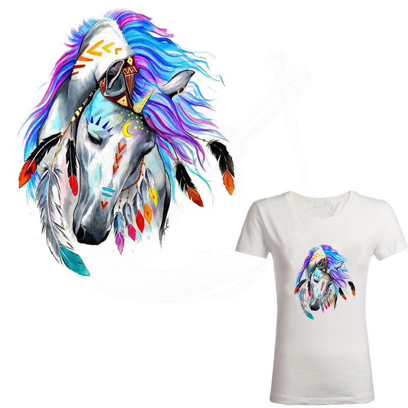 Gorgeous Fantasy Horse Print DIY for White Women's T-Shirt (Instructions  in Images)