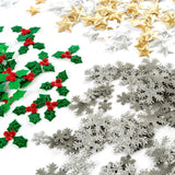 550 Assorted Fabric Motifs - Stars, Holly & Snowflakes