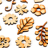 Lynette Jasper 100 Mixed MDF Flowers, Leaves, Stems & Flourishes