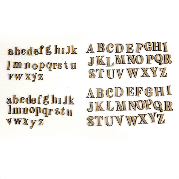 Lynette Jasper 104 MDF Alphabet Pieces - Upper & Lower Case