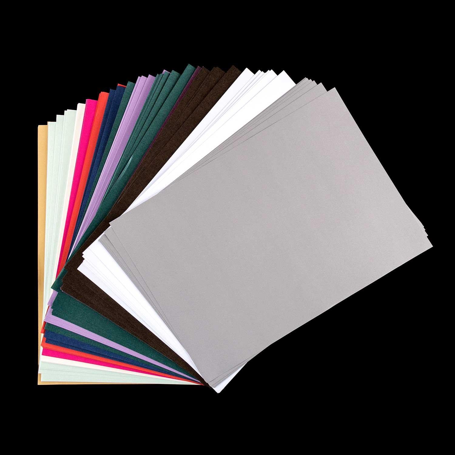 120 Sheets of A4 Shimmer Paper in Assorted Colours
