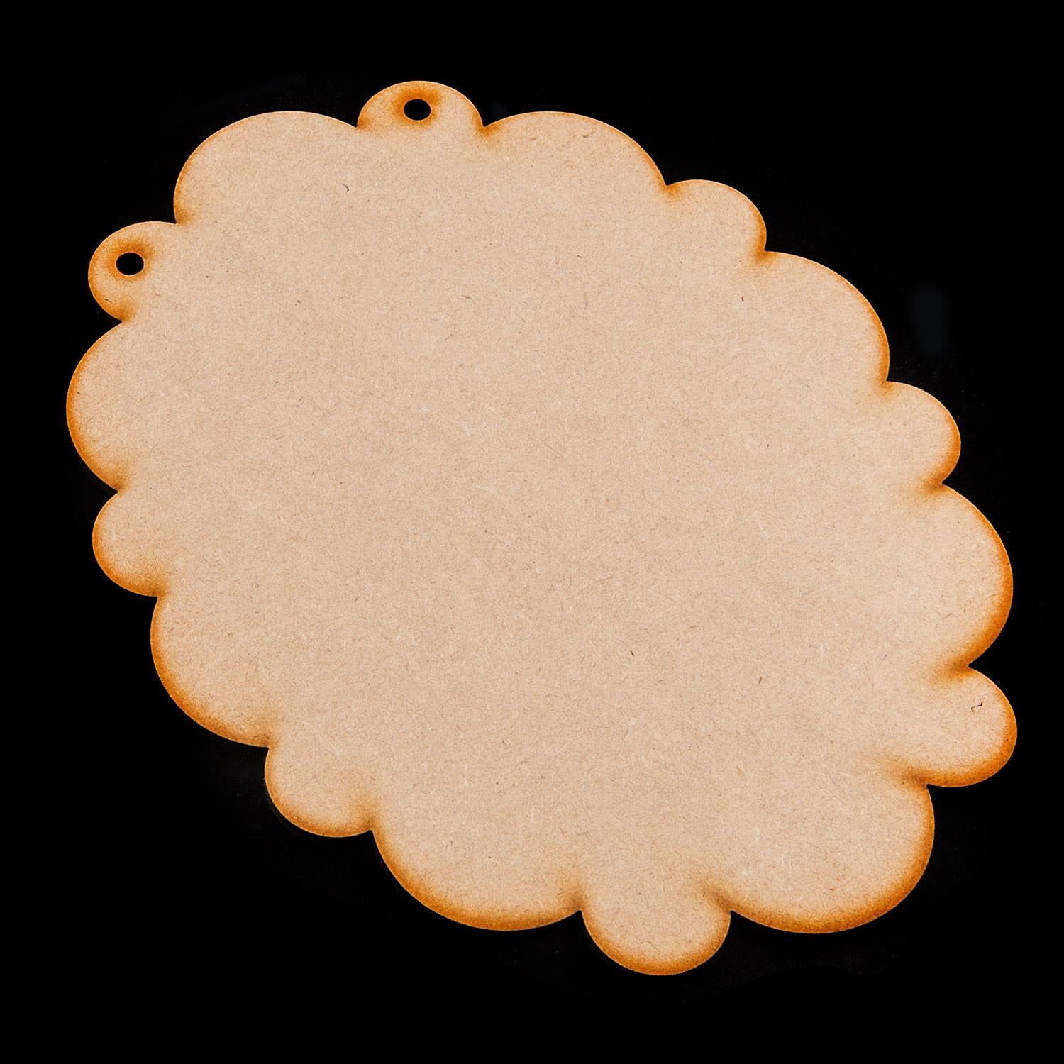 Set of 15 Laser Cut MDF Fancy Plaques