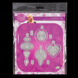 Beautiful Baubles and Fir Tree Branch Complete Die, Stencil and Embellishment Collection