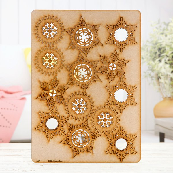Pretty Gets Gritty - MDF A4 Grab Sheets - Gritty Snowflakes