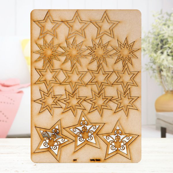Pretty Gets Gritty - MDF A4 Grab Sheets - Gritty Stars