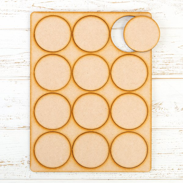 Lynette Jasper - Pretty Gets Gritty MDF Gritty Trading Shapes Circles