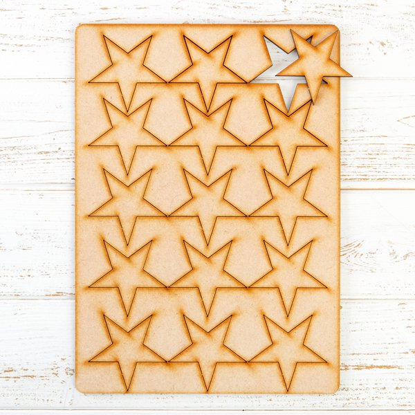Lynette Jasper - Pretty Gets Gritty MDF Gritty Trading Shapes Stars
