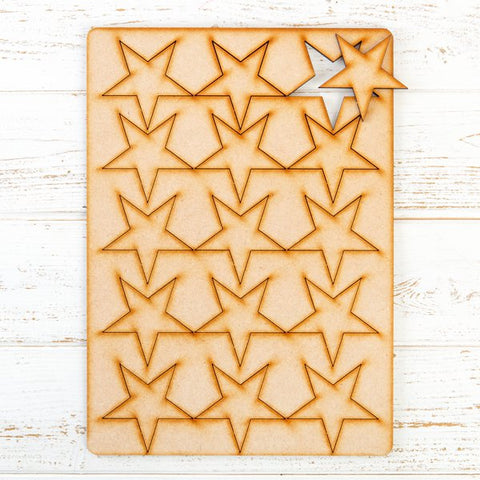 Pretty Gets Gritty -  MDF Gritty Trading Shapes Stars