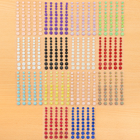 Set of 500 Moonrock Gems - 10 Assorted Colours