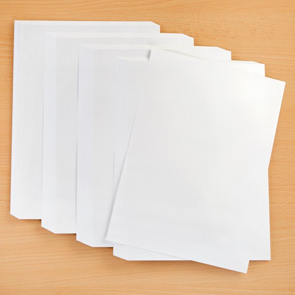 White Iridescent Card - 100 Sheets