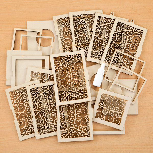 MDF Vine Lantern Kit with Glue - Includes 2 Kits