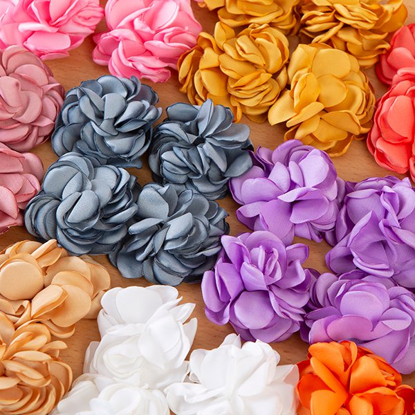 Luxury Satin Flowers - Pack of 36