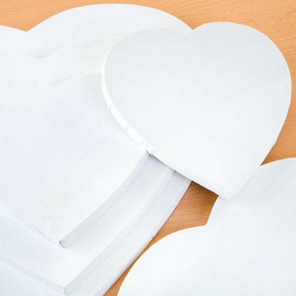 Set of 5 Heart Shaped Canvases