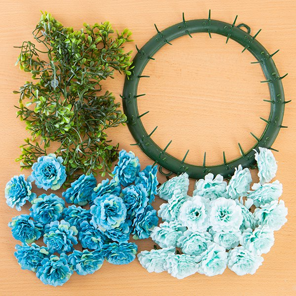 Craft Buddy Begonia Wreath Making Kit Harmony (BLUE)