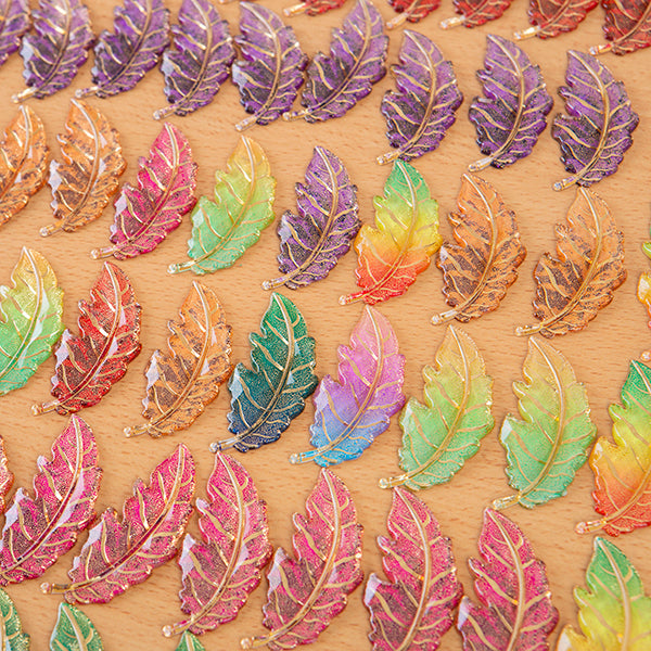 Craft Buddy Set of 80 Luxury Acrylic Leaves
