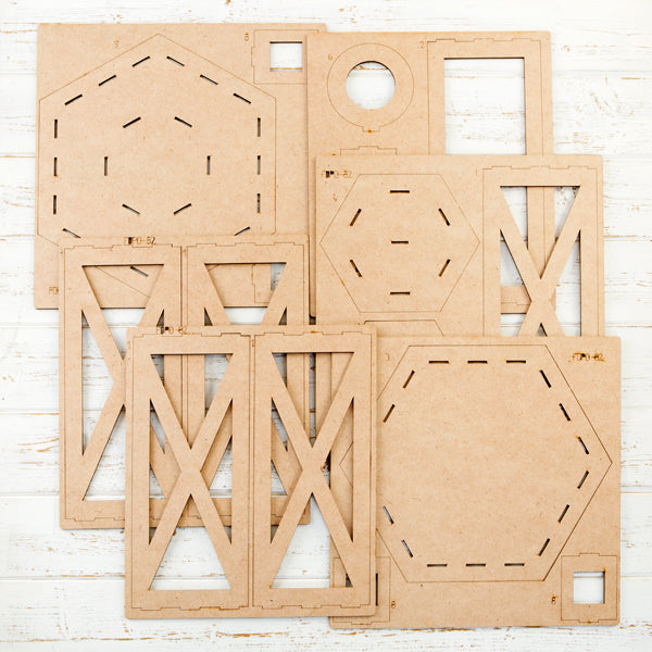 Pretty Gets Gritty Large Festive MDF Lantern