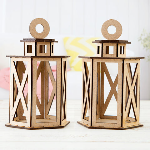 Pretty Gets Gritty Pretty Festive MDF Lanterns