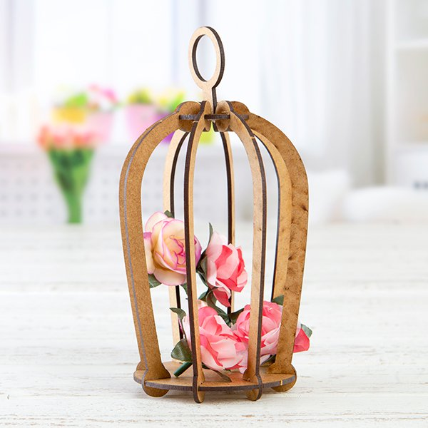 Decorative MDF Bird Cage