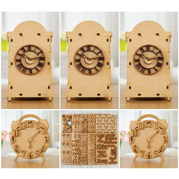 Pretty Gets Gritty MDF Clock and Grab Sheet Complete Collection