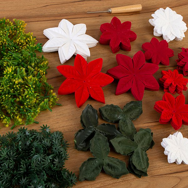 Craft Buddy Forever Flowerz Pretty Poinsettias makes 120 Poinsettias