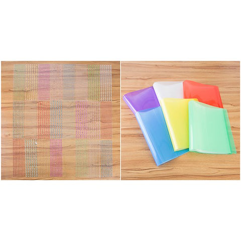 Craft Buddy Set of 6 Gem Folders with 24 Sheets of Metallic Gems