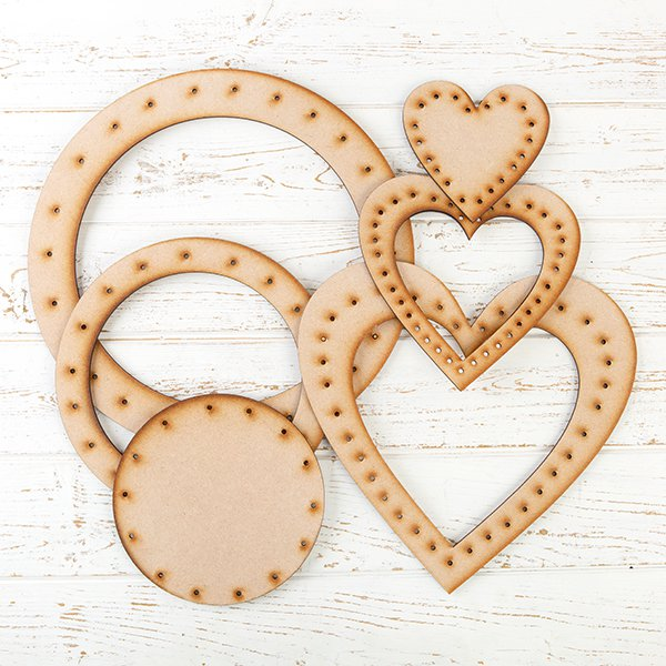 Forever Flowerz MDF Wreaths - Set of 6
