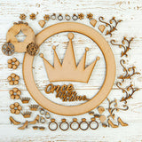 Pretty Gets Gritty MDF Buildable Wreath Kits - Princess