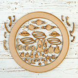 Pretty Gets Gritty MDF Buildable Wreath Kits - Outer Space
