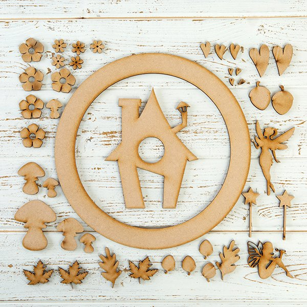 Pretty Gets Gritty MDF Buildable Wreath Kits - Fairy Garden