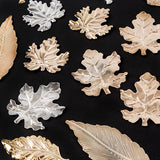 Craft Buddy 120pcs Metal Leaves - Gold and Silver