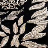 100 Filigree Feather, Flourish and Leaf Embellishments