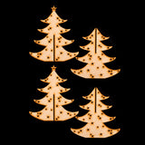 The Crafty Lass Set of 2 Centrepiece Laser Cut MDF Trees