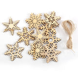 10 x Assorted MDF Wooden Christmas SNOWFLAKE