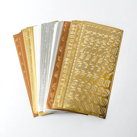 72 Sheets of Everyday Peel Offs In Gold, Silver, Copper & White