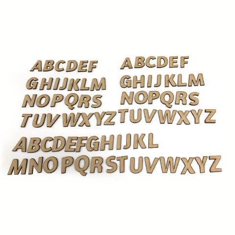 Pretty Gets Gritty - 78pcs Uppercase MDF Alphabet Pieces