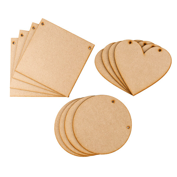 "Set of 12 8"" MDF Plaques"