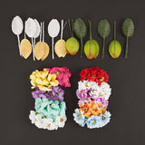 240pcs Wired Flower and Leaved  Kit