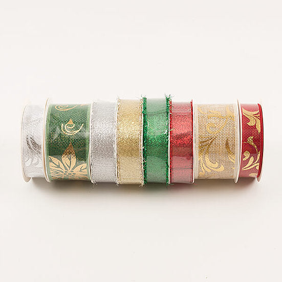 40M Christmas Ribbon Selection