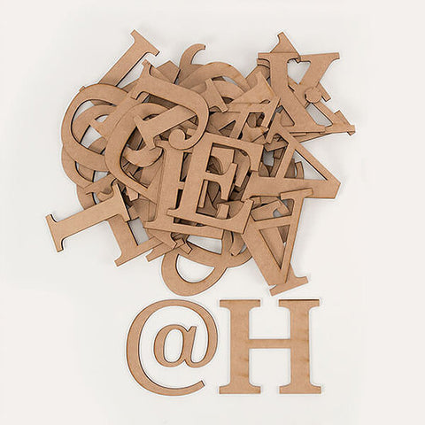 MDF Letters Kit Uppercase - 44 Pieces