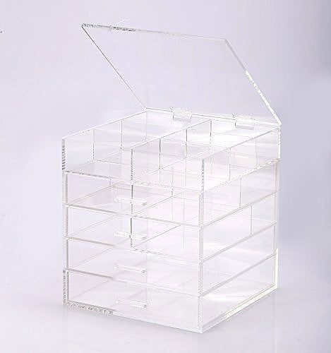 Set of 2 Large Heavy Duty Acrylic Craft Storage Boxes