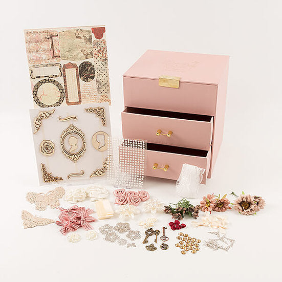 Autumn Treasure Chest, Paper Pad and Embellishments Set